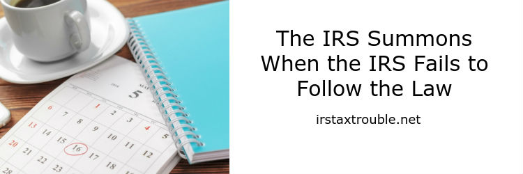 IRS summons attorney in houston